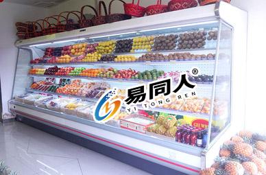 天津-水果店-风幕柜