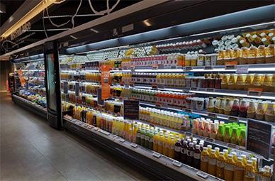 超市风幕柜、鲜肉柜深圳出货案例