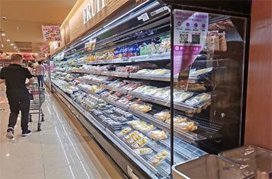 超市风幕柜、组合岛柜、蛋糕柜、玻璃门冷柜出货案例