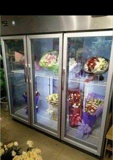 玻璃鲜花柜